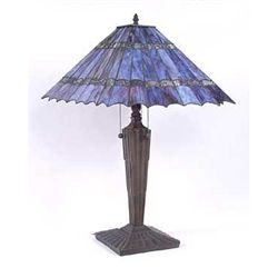 Attributed to Tiffany Purple Table Lamp