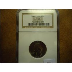 1968-S/S WASHINGTON QUARTER NGC PF67