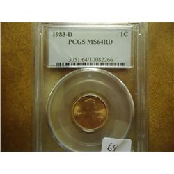 1983-D LINCOLN CENT PCGS MS64 RD
