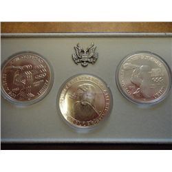 1983 P/D/S OLYMPIC UNC SILVER DOLLARS