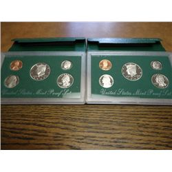 1996 & 98 US PROOF SETS (WITH BOXES)