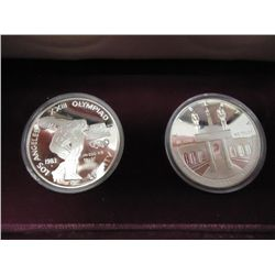 1983-S & 84-S US OLYMPIC PF SILVER DOLLARS