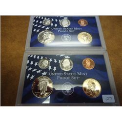 2000 & 2001 US PARTIAL PROOF SETS NO QUARTERS &