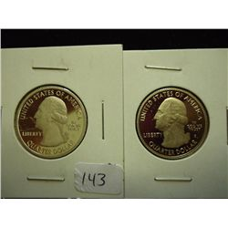 2010-S GRAND CANYON AND YELLOWTONE QUARTERS SILVER