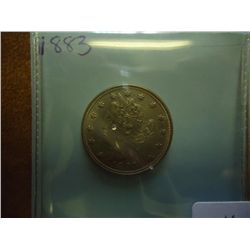 "1883 NO CENTS LIBERTY ""V"" NICKEL (UNC)"