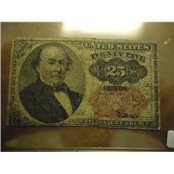 25 CENT US FRACTIONAL CURRENCY
