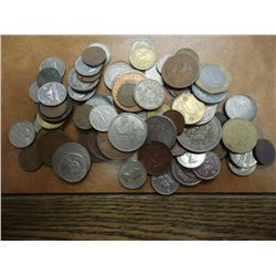 1 POUND ASSORTED FOREIGN COINS