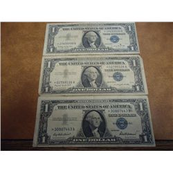 1957,57-A & 57-B $1 SILVER CERTIFICATES STAR NOTES