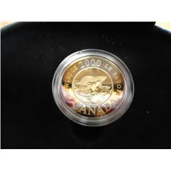 2000 POLAR BEAR CANADA $2 PROOF STERLING SILVER