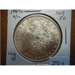 1884-O MORGAN SILVER DOLLAR (UNC)