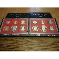 1980 & 82 US PROOF SETS (WITH BOXES)