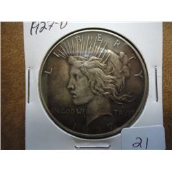 1927-D PEACE SILVER DOLLAR