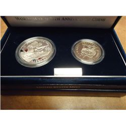 1991-95 WWII 2 COIN PROOF SET