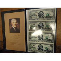 UNCUT SHEET OF 4-2003-A $2 FRN'S MISSOURI STATE