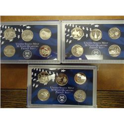2000,2002 & 06 US 50 STATE QUARTERS PROOF SETS