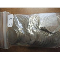 BAG OF 40 UNDATED BUFFALO NICKELS