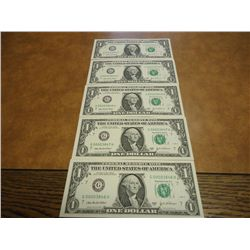5 CONSECUTIVE LOW SERIAL NUMBER 2003-A FRN'S