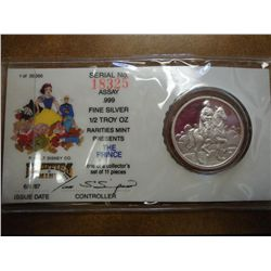 1/2 OZ. DISNEY SILVER ROUND PF  THE PRINCE