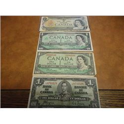 CANADA $ CURRENCY SET 1937,54,67 & 73