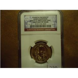 2007-P MADISON DOLLAR NGC BRILLIANT UNC