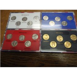 4-2000 US 50 STATE QUARTERS (UNC) SETS