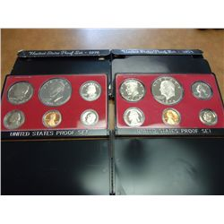 1974 & 76 US PROOF SETS (WITH BOXES)