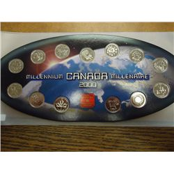 2000 CANADA MILLENNIUM 13 QUARTER SET