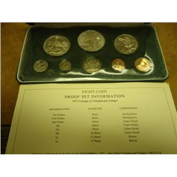 1972 TRINIDAD & TOBAGO 8 COIN PROOF SET