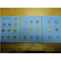 GREAT BRITAIN FARTHINGS ALBUM 1937-56 22 COINS