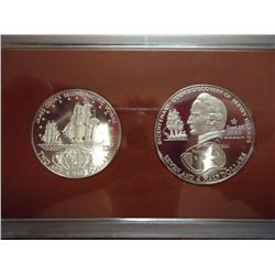 1974 COOK ISLANDS SILVER PF $2 1/2 & $7 1/2