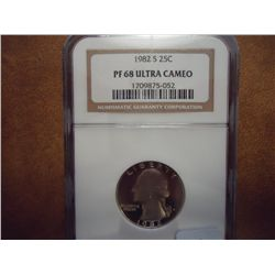 1982-S WASHINGTON QUARTER NGC PF68 ULTRA CAMEO