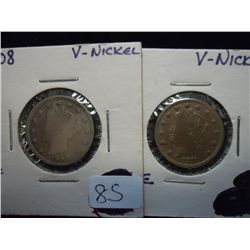 "1908 & 1911 LIBERTY ""V"" NICKELS (FINES)"