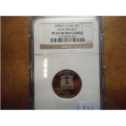 2008-S NEW MEXICO QUARTER NGC PF 69 ULTRA CAMEO
