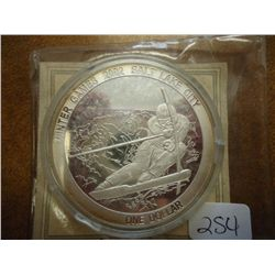 2002 COOK ISLANDS $1 SILVER PF WINTER GAMES 2002