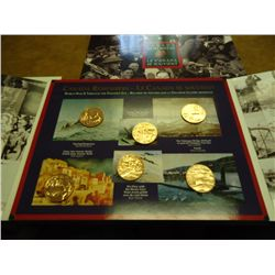 CANADA REMEMBERS SOUVENIR SET WITH 6 MEDALS