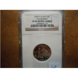 2005-S CALIFORNIA QUARTER NGC PF69 ULTRA CAMEO
