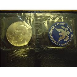1971-S IKE SILVER DOLLAR (UNC) (BLUE PACK)