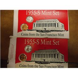 2-1955-S US MINT SETS (AS SHOWN)