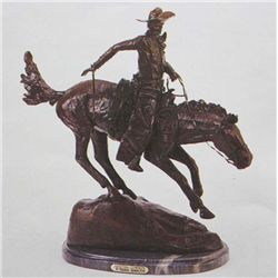 """Arizona Cowboy"" Bronze Sculpture - Remington"
