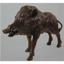 """Wild Boar"" Bronze Sculpture - Moigniez"