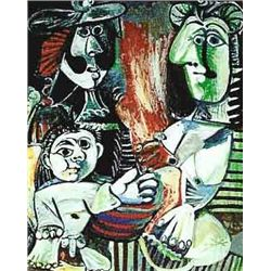 "Picasso ""Small Child With Two Women"""