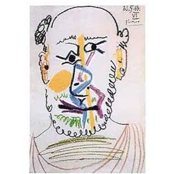 "Picasso ""Half Bald Man With Beard"""