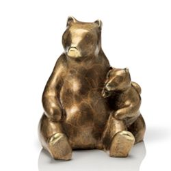 Bear & Cub Bronze Sculpture