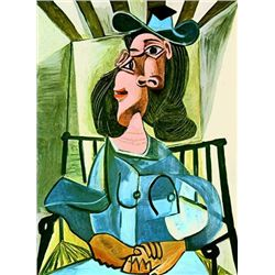"Picasso ""Woman With A Hat Seated In An Armchair"""