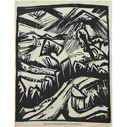 Erich Heckel  Original Woodcut