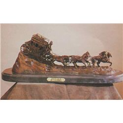 """Stagecoach"" Bronze Sculpture - Russell"