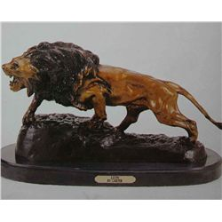 """Lion"" Bronze Sculpture - Carter"