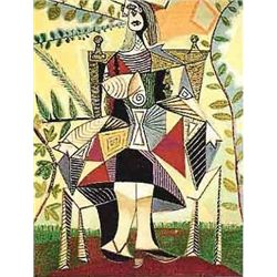 """Picasso """"Girl In Colorful Dress"""""""