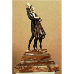 "Chiparus - ""Tango"" -Bronze And Ivory Sculpture"