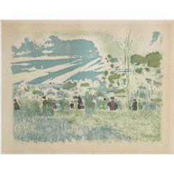 "Vuillard Lithograph ""A Travers Champs"""